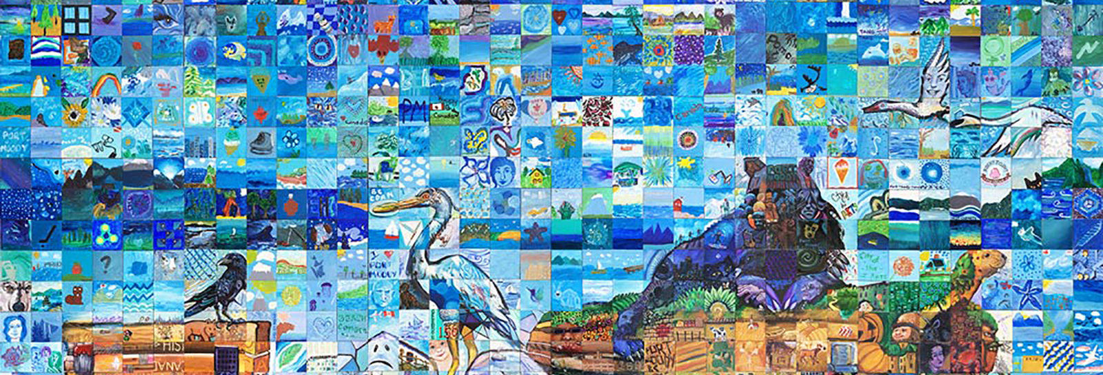 mosaic art featuring wildlife