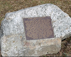 Stone marker for Ethel Bennett
