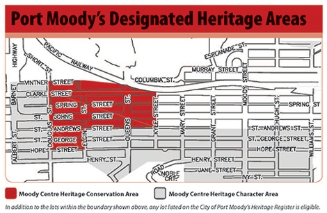 Map of designated heritage areas