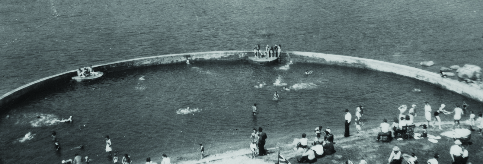 Rocky Point tidal swimming pool circa 1942