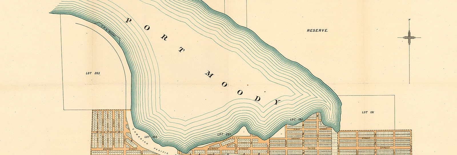 Heritage map of Port Moody