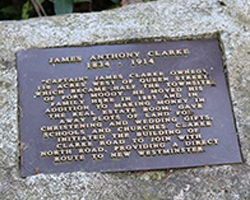 Stone marker for James Clarke
