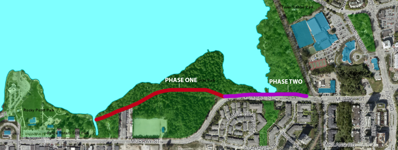 Location of Shoreline Trail construction