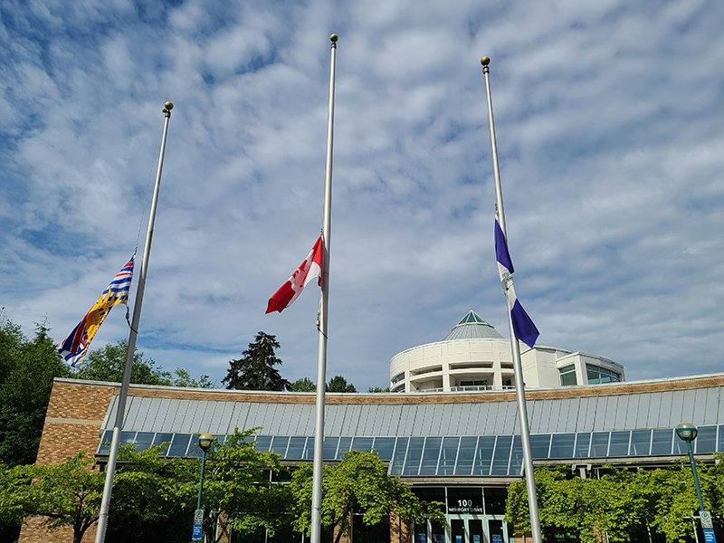 City lowers flags in memory of Indigenous children who died at residential schools