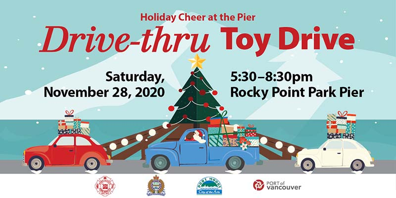 Help bring holiday cheer to families in need by participating in our drive-thru toy drive Nov. 28