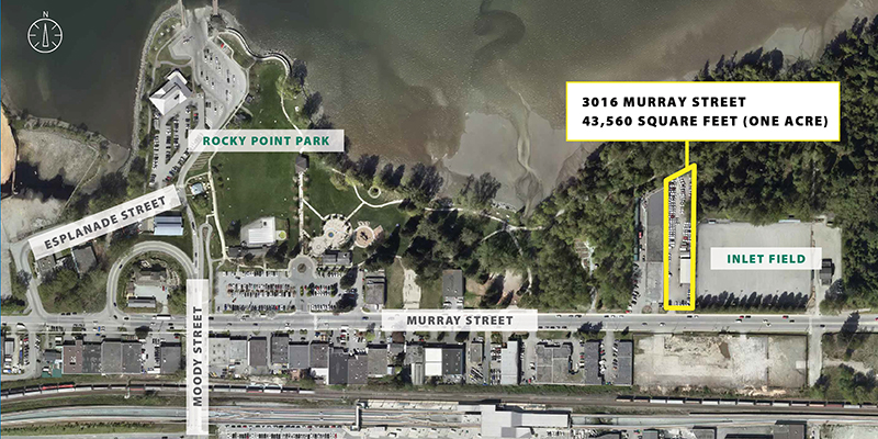 Map of Rocky Point Park and purchased land