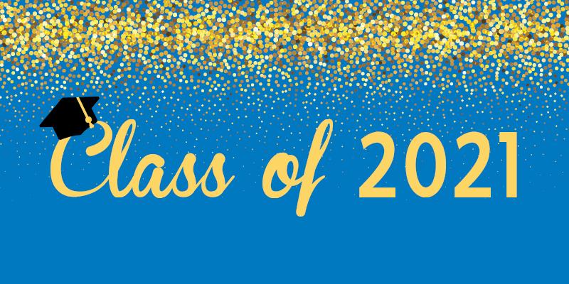 Grad 2021 and confetti