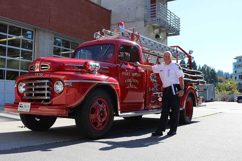 Port Moody thanks Fire Chief Ron Coulson for his service in advance of retirement