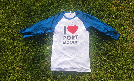 Port Moody baseball shirt