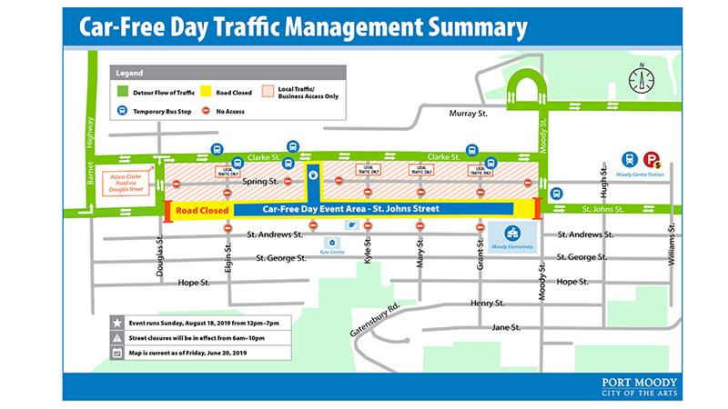 Traffic alert: St. Johns Street closed on August 18, 2019