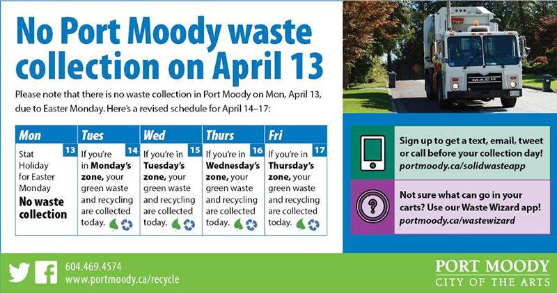 Easter 2020 waste collection schedule
