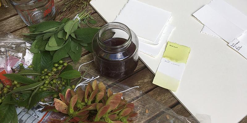 Natural ink making supplies