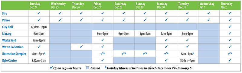 Port Moody Holiday Schedule