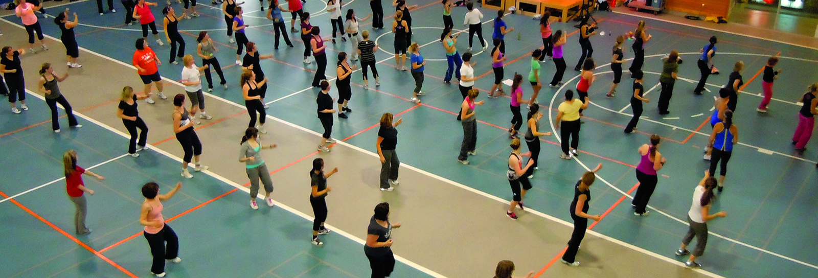 A zumba class at the Recreation Complex