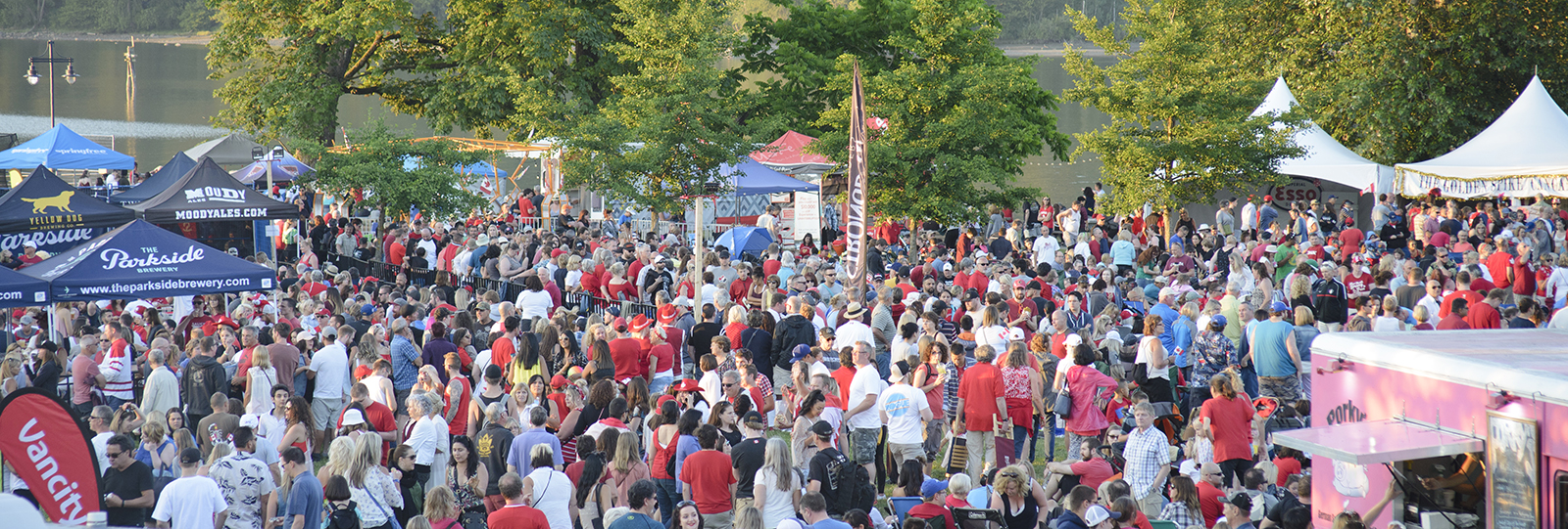crowds at Rocky Point Park celebrating Canada Day